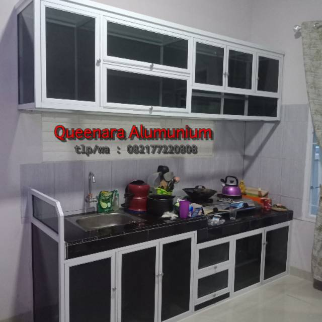 Kitchen Set Alumunium Lemari Dapur Alumunium Shopee Indonesia