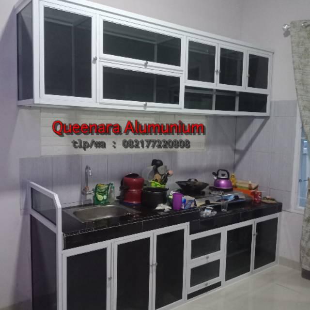 Kitchen Set Alumunium Lemari Dapur Alumunium Shopee Indonesia
