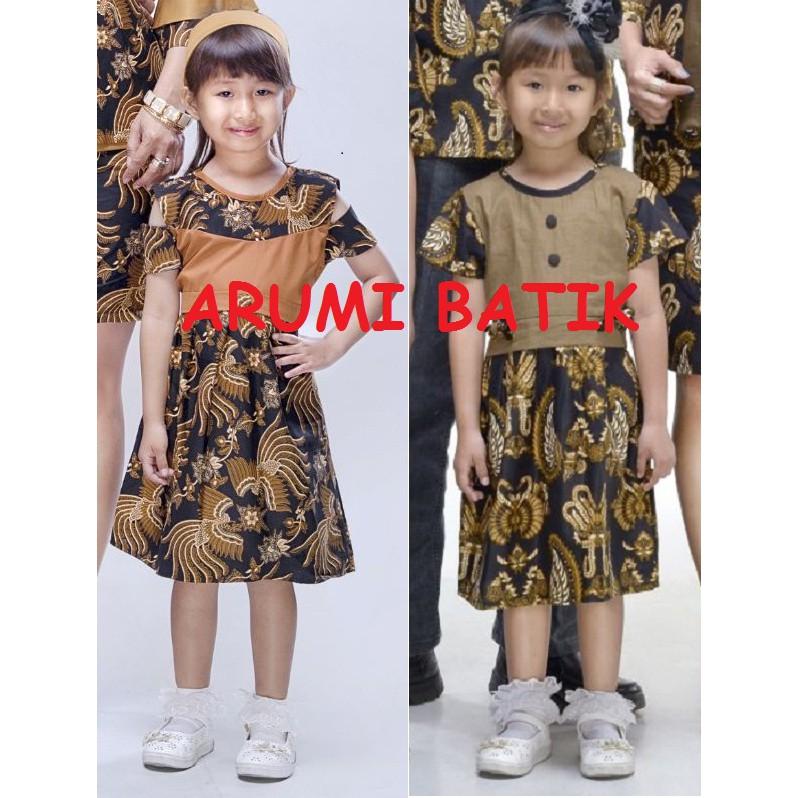 Dress Terusan Baju Seragam Batik Anak Perempuan 2230 2 12 Tahun Balita Tk Sd