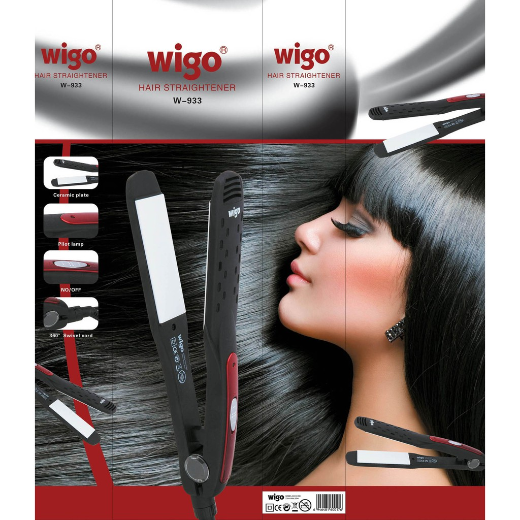 Catokan Wigo W 933 Catok Keramik Turmaline Panas Cepat Hair Salon Fast Heat Rambut Salon   Shopee Indonesia
