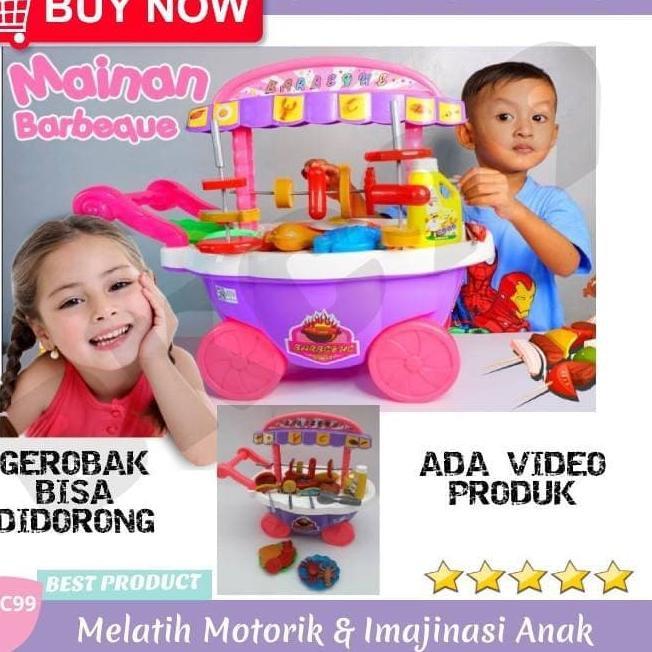 Azm B99 Mainan Anak Perempuan Masak Masakan Kitchen Set Bbq Barbeque Murah Shopee Indonesia