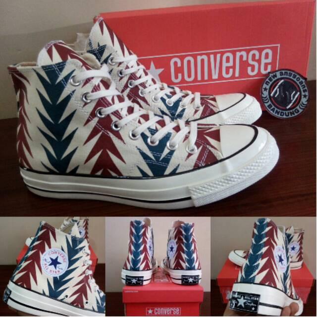 Sepatu Converse All Star CT Chuck Taylor 70s High Archive Print Chili Paste  BNIB Original  a3fe79d058