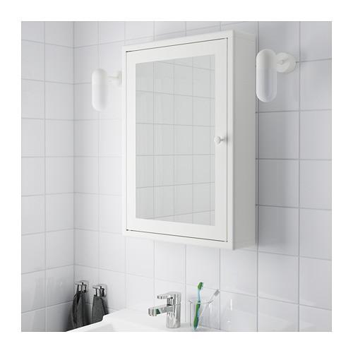 JE Rak Dinding Kamar Mandi DN59 dengan Cermin Kabinet Toilet Besi Baja Galvanis | Shopee Indonesia