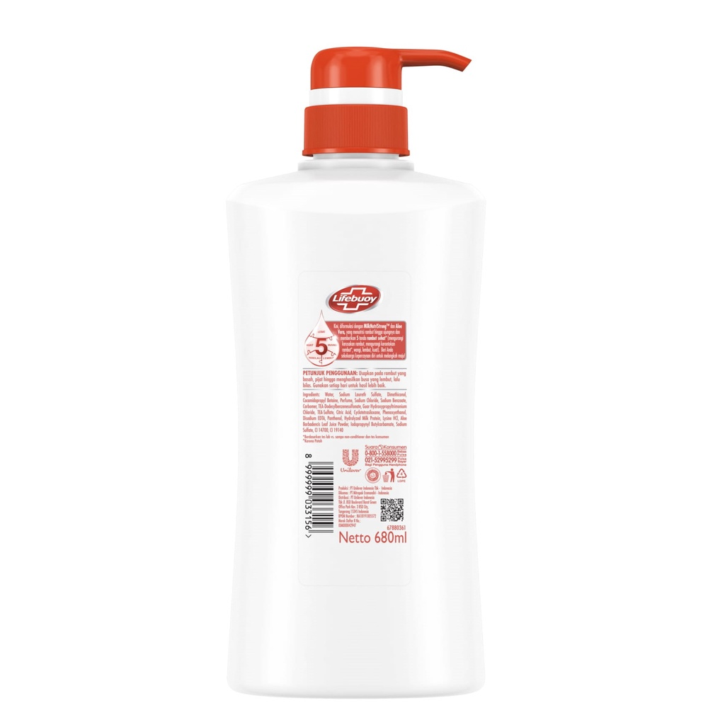 Lifebuoy Shampoo Anti Hairfall 680 Ml - Shampoo Anti Rambut Rontok, Perawatan Rambut Rontok-2