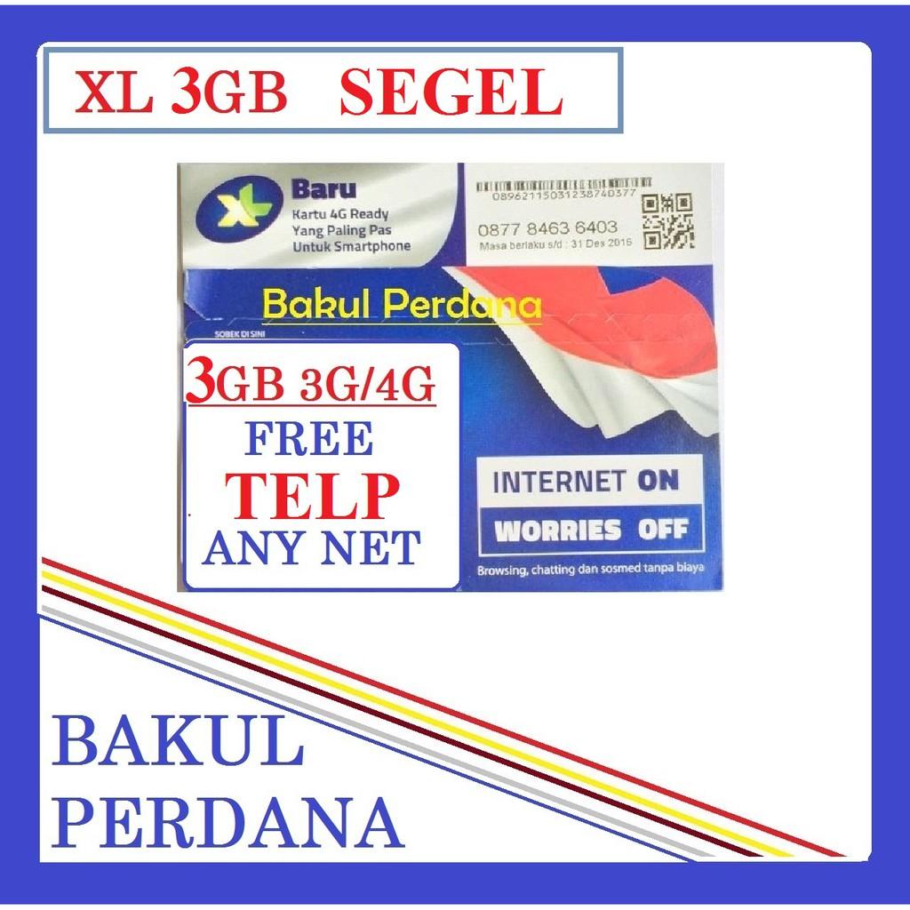 Kartu Perdana Internet Xl Combo Lite 11gb Free Pulsa Youtube Kuota 250 Gb Shopee Indonesia