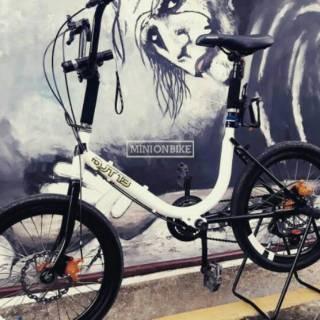 Jual rangka saja sepeda Phoenix warna putih untuk Minion