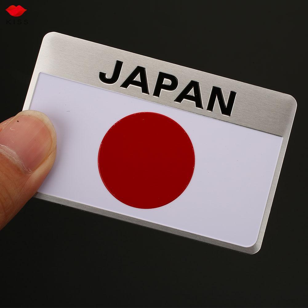 Stiker Emblem Motif Bendera Jepang Bahan Metal Tahan Air Untuk Mobil Shopee Indonesia