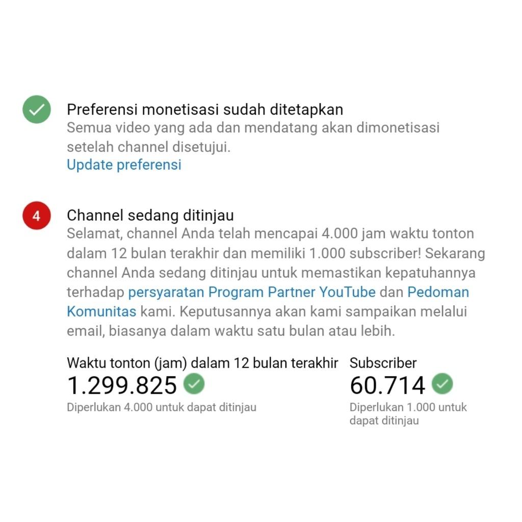 1000 Jam Tayang Akun Channel Youtube Shopee Indonesia
