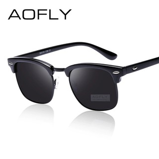 Aofly Klasik Setengah Logam Terpolarisasi Kacamata Pria Wanita Merek Desain Kacamata  Cermin Mode  69406e9f7d