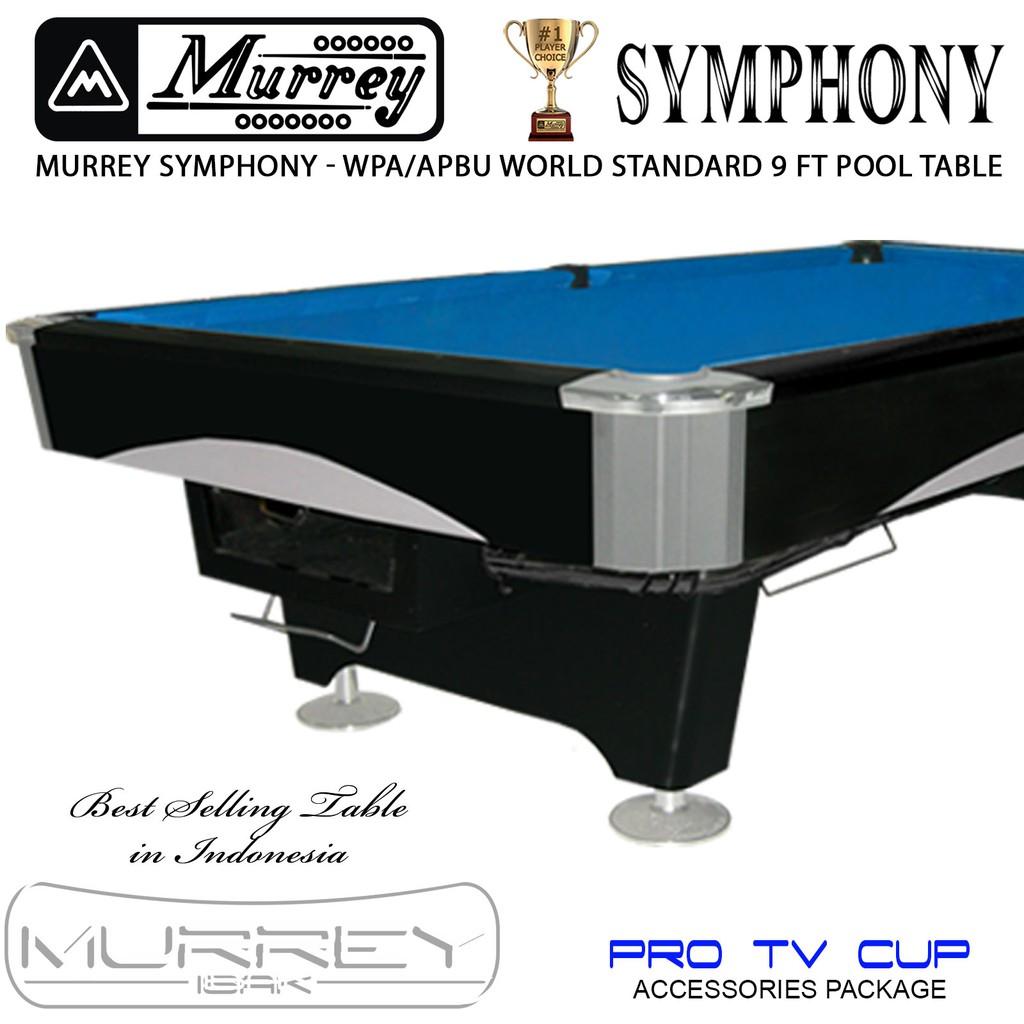 Murrey Symphony Pro TV 9 ft Pool Table - Meja Billiard Biliar Bilyard 9 feet