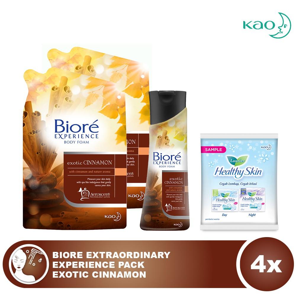 Biore Chocoberry Body Wash Trio Free Hijab And Lotion 100ml Experience Exotic Cinnamon 220ml Shopee Indonesia