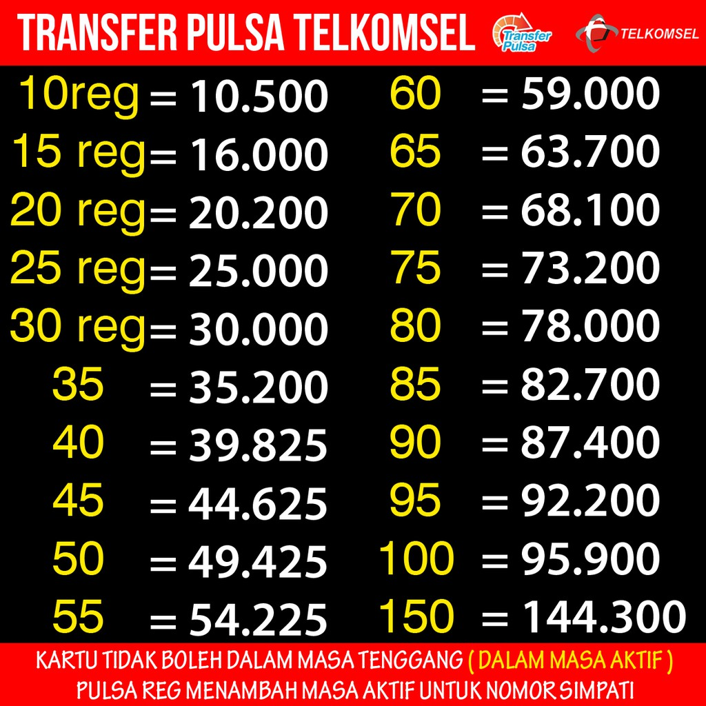 Transfer Pulsa Telkomsel Shopee Indonesia