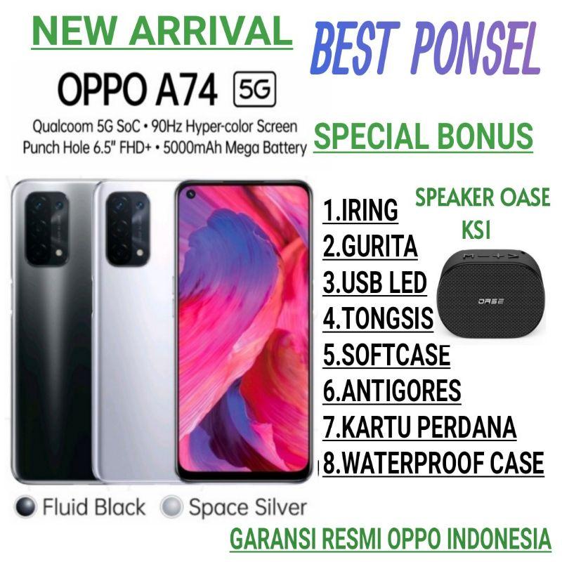 OPPO A74 5G RAM 6/128GB GARANSI RESMI OPPO INDONESIA