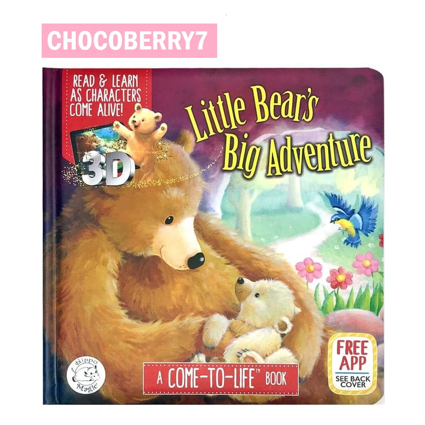 Hippo Magic Books Buku Ar Augmented Reality Little Bear Big