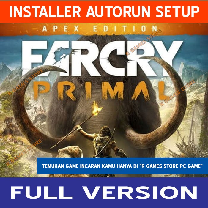 Far Cry Primal Apex Edition Incl All Dlcs Hd Texture Pack Addon Dvd Kaset Game Pc Laptop Murah Shopee Indonesia