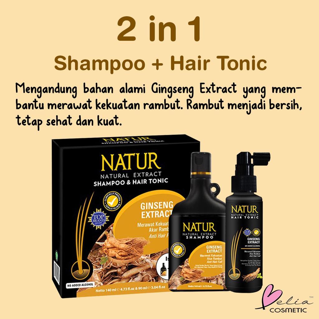 ❤ BELIA ❤ NATUR Hair Mask   Hair Vitamin   2 in 1 Shampoo & Hair Tonic(✔️BPOM)-1