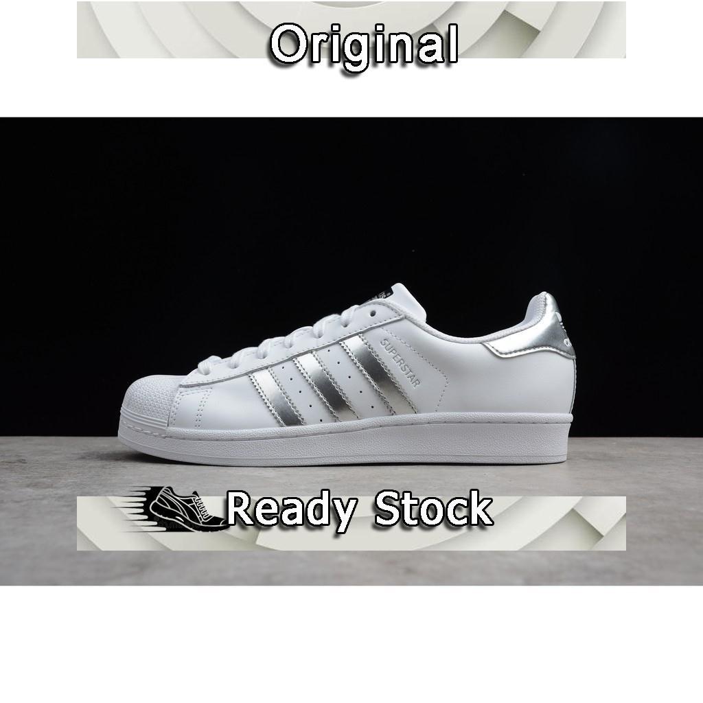 Sepatu Sneakers Olahraga Unisex Model Adidas Original Super Star 80s Warna  Putih Silver (36-44) 100%  af50ba443c