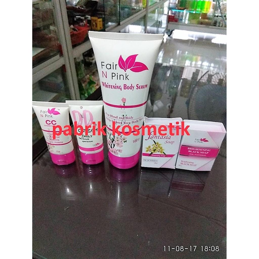 Paket Pencerah Kulit Wajah Tubuh Fair N Pink Shopee Indonesia Serum Pemutih Badan 160ml Ber Bpom