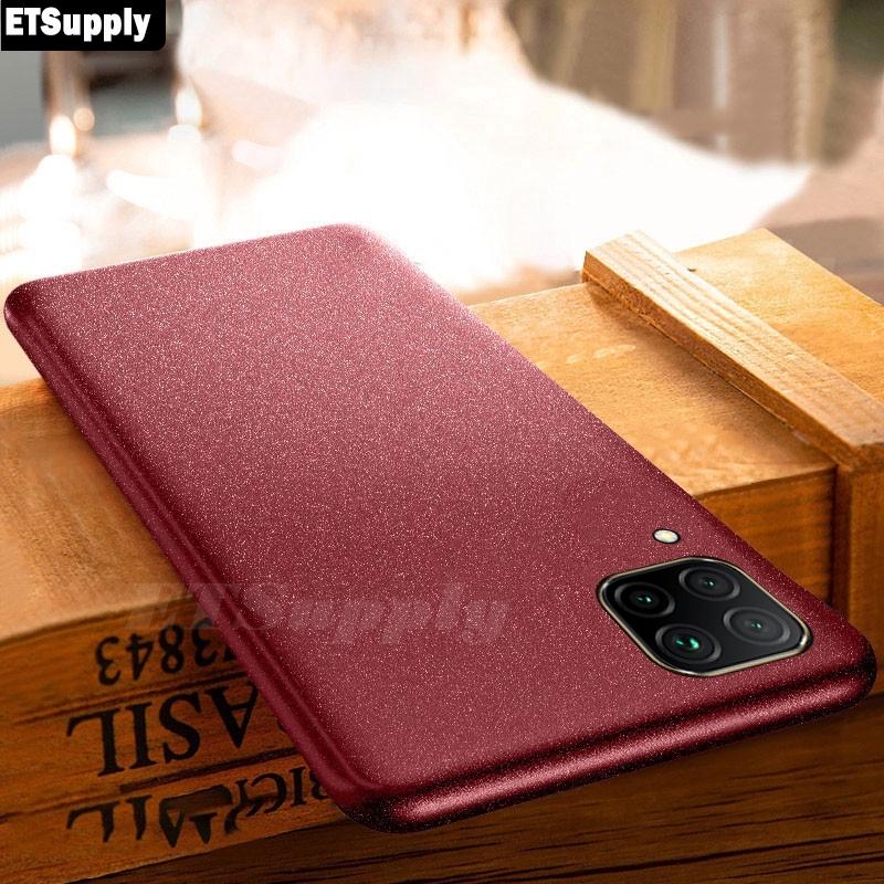 For Samsung Galaxy A12 Case Anti Shock Slim Soft Matte Quicksand Phone Casing Cover
