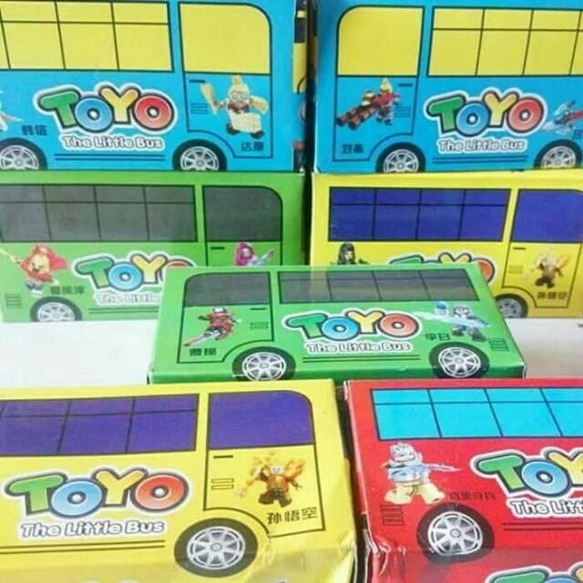 Lego Brick Bus Tayo Mainan Edukasi Bus Tayo Lego Shopee Indonesia