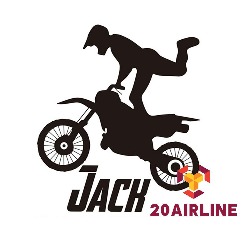Hzl18 Stiker Dinding Desain Rider Motor Warna Hitam Untuk Dekorasi Kamar Anak Laki Laki Shopee Indonesia