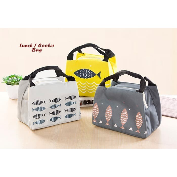 Lunch Bag / Tas Bekal Motif Lucu / Lunch Bag Cooler bag / Tas Bekal   Shopee Indonesia