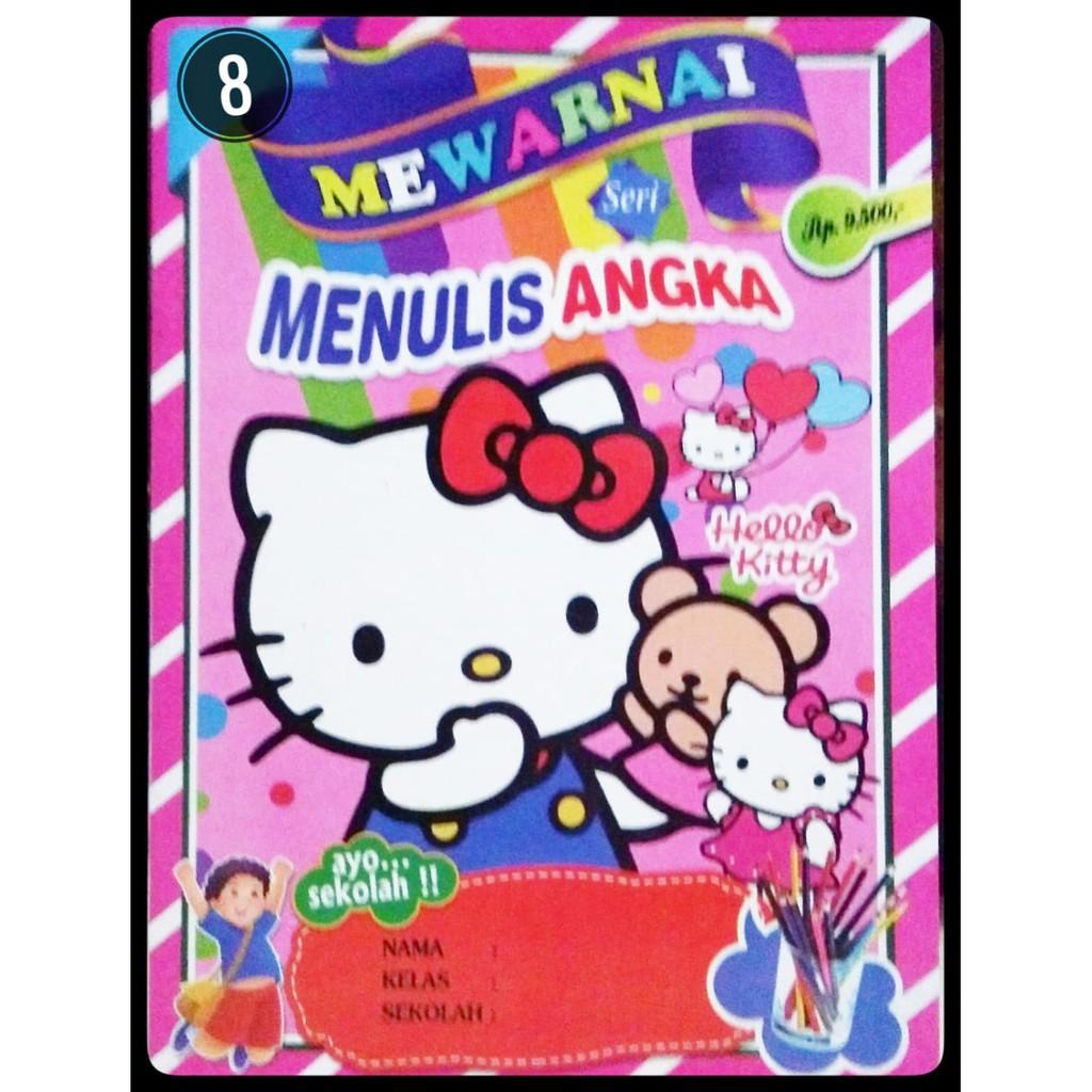 Buku Mewarnai Anak Belajar Membaca Dan Menulis Karakter Gambar Hello Kitty Shopee Indonesia