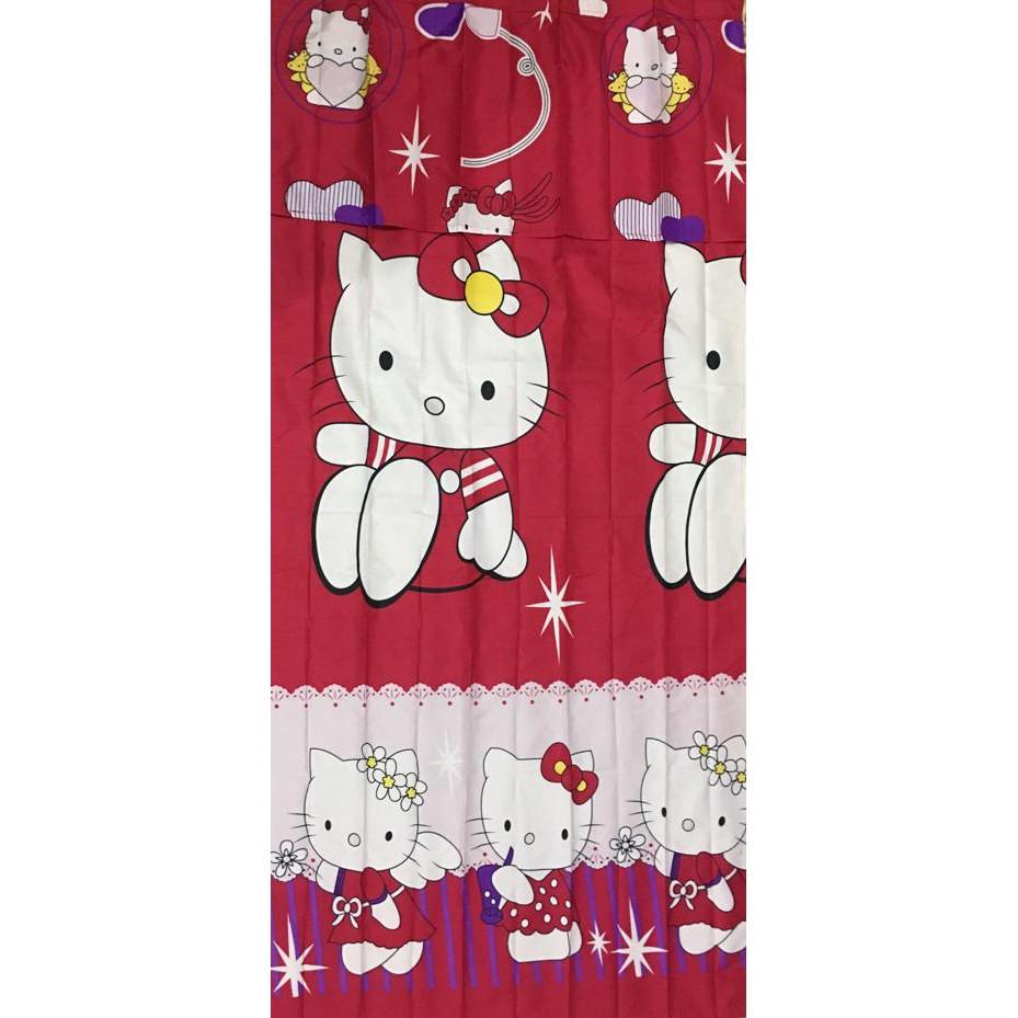 Promo Kbv0688 Gorden Horden Hordeng Karakter 3d Plisket Hello Kitty Frozen Doraemon Mickey Minion