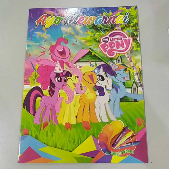 Buku Mewarnai Anak Little Pony Kuda Pony Shopee Indonesia
