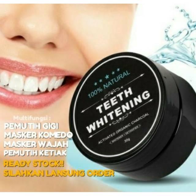 【Mag】 Charcoal Teeth Whitening Powder serbuk arang Pemutih Gigi Bamboo Toothpaste   Shopee Indonesia