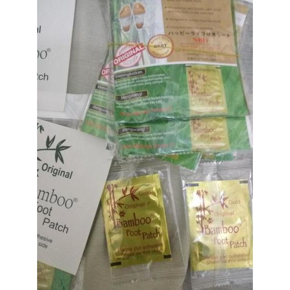 Bamboo Gold Original Foot Patch | New Bamboo Gold NBO Premium Quality ( bukan Kinoki Gold