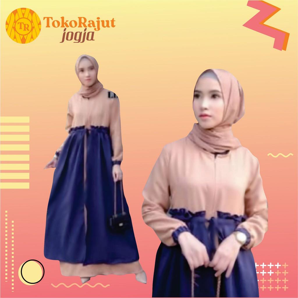 Gamis Gaul 11 Baju Gamis Wanita Muslim Terbaru Zalea Dress Termurah  remaja - Aina Rempel Mosscrepe