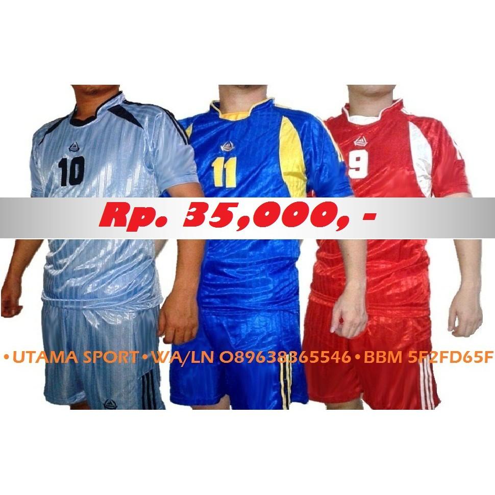 Paket Tim Kaos Jersey Adidas Seragam Futsal   Bola   Olahraga (19 pasang  setel - Celana + Baju )  6dce5df1e1b5f