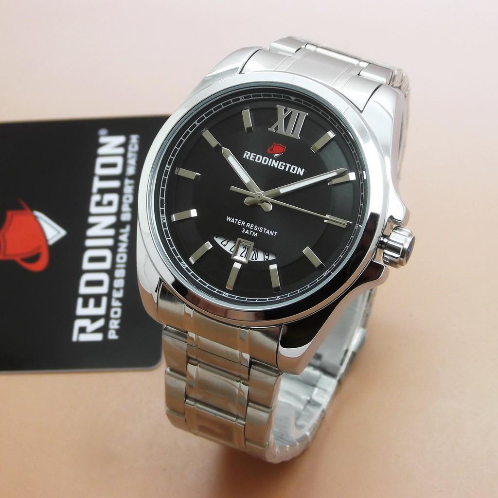Reddington Jam Tangan Pria Tali Kulit Original R 3028 Black Leather ... 4a2e6b5c9e