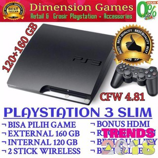 SONY PLAYSTATION 3 SLIM CFW 120 GB DAN 160 GB. suka: