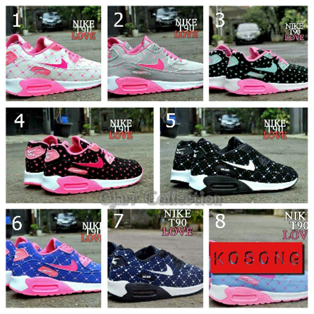 Sepatu Kets Nike Air Max T90 Love Murah Women Untuk Anak Perempuan Wanita  Cewek Hitam Pink Grade Ori  0e6861cccc