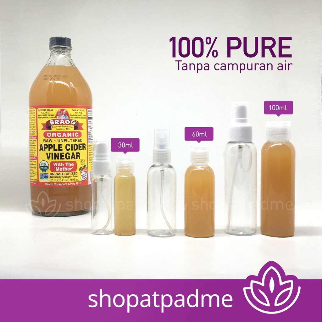 Bragg Apple Cider Vinegar 60 ml (Share in Bottle) (Cuka Apel)   Shopee Indonesia