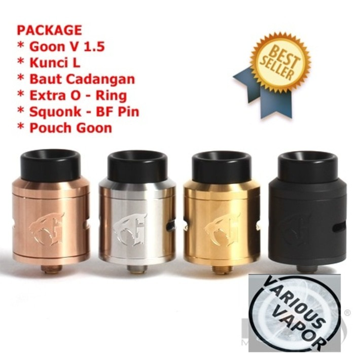 528 Custom GOON V2 RDTA / RTA / RDA 24 mm Best Clone Quality 1:1 - Hitam   Shopee Indonesia
