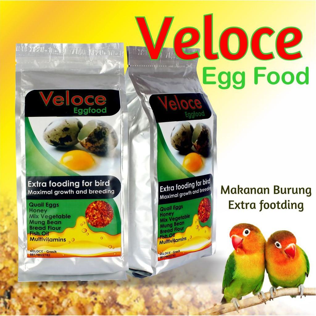 Pakan Burung Makanan Burung Kenari Lovebird Veloce Egg Food 400