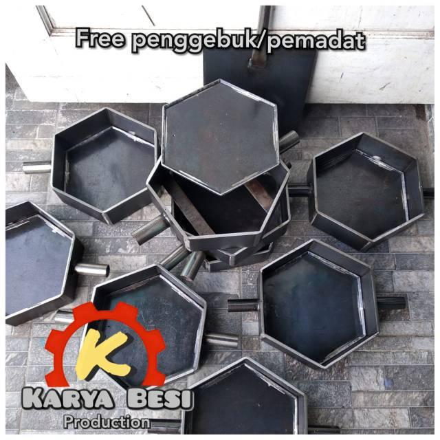 Cetakan paving segi enam,hexagonal  Shopee Indonesia