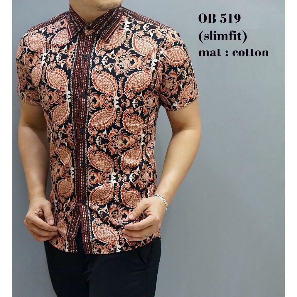 Baju A7736 Kemeja Batik Slimfit | Shopee Indonesia -. Source · Kombinasi Muslim Koko Jeans.