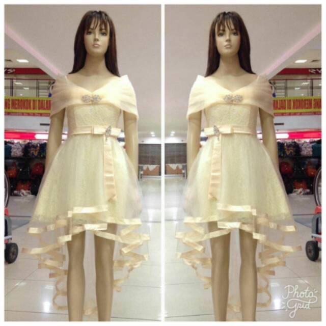 Dress Import Dress Ekor Bridesmaid Party Dress Gaun Pesta Korea Baju