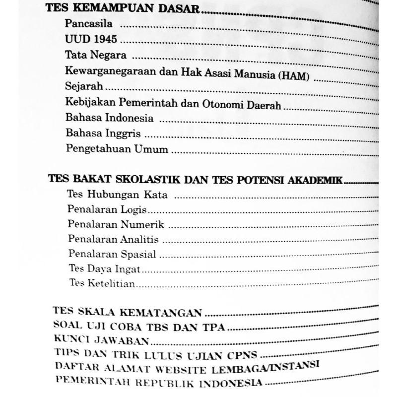 Buku Soal Tes Calon Pegawai Negeri Menaklukan Soal Cpns Dalam 1 Jam Shopee Indonesia