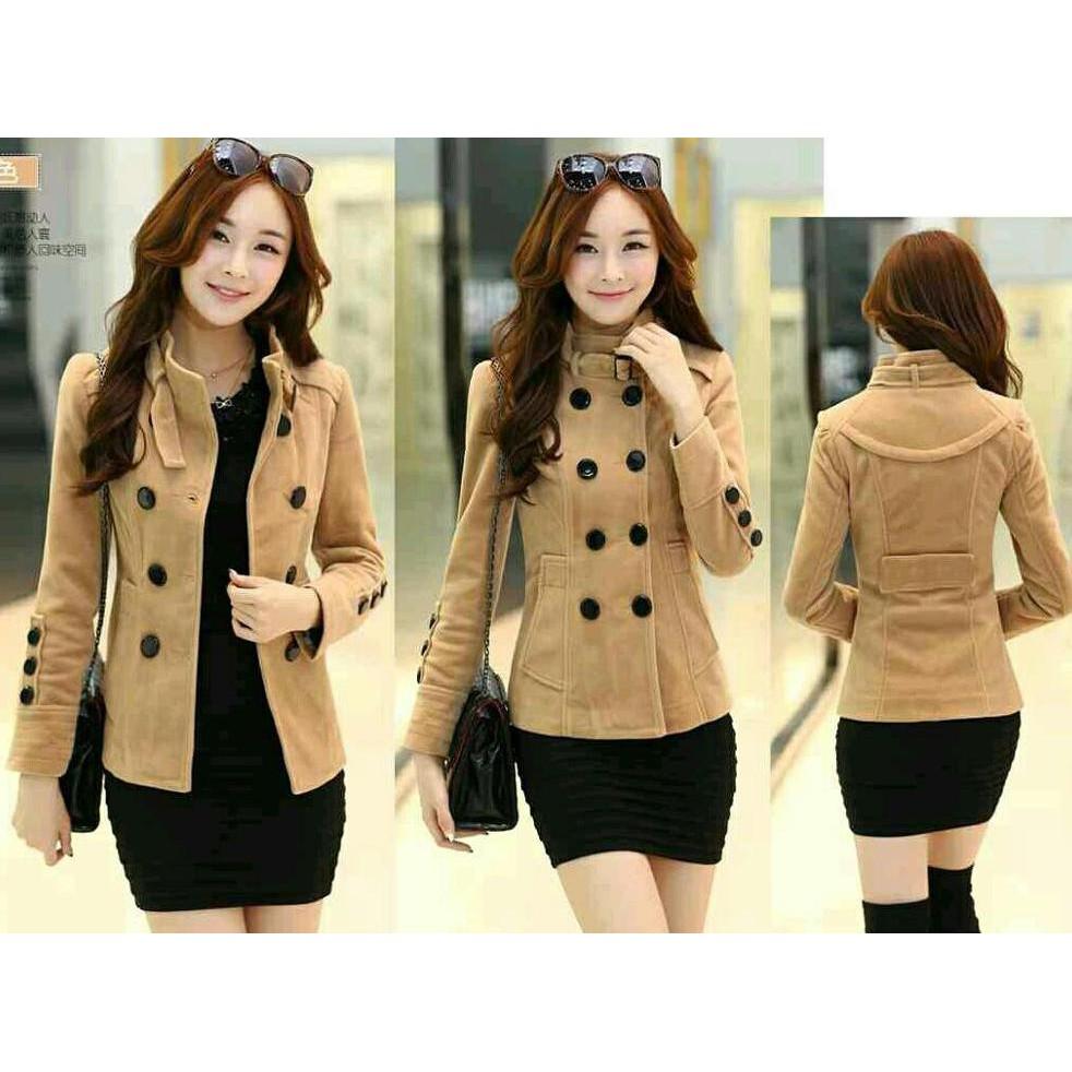 TERLARIS! blazer korea wanita / coat korea/ deandra blazer - Hitam | Shopee Indonesia