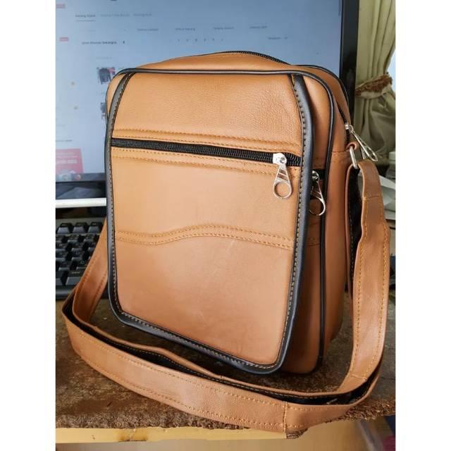 Tas selempang pria kulit asli murah made in garut TK-03  40ee96f1e9