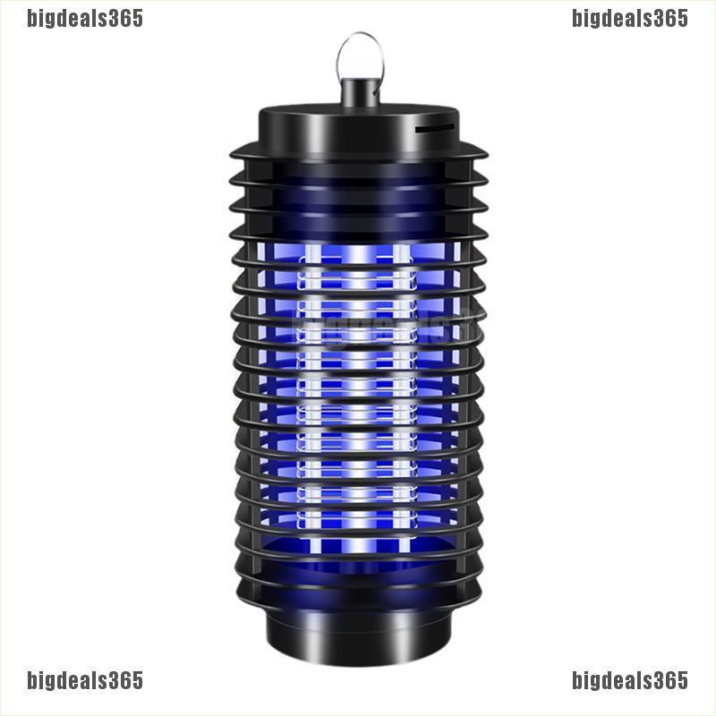 Electric Mosquito Fly Pest Bug Insect Zapper Killer With Trap Lamp Black New