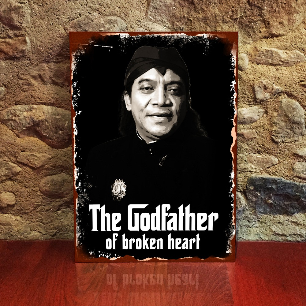 Didi Kempot Sobat Ambyar Poster Kayu Broken Heart Dekorasi