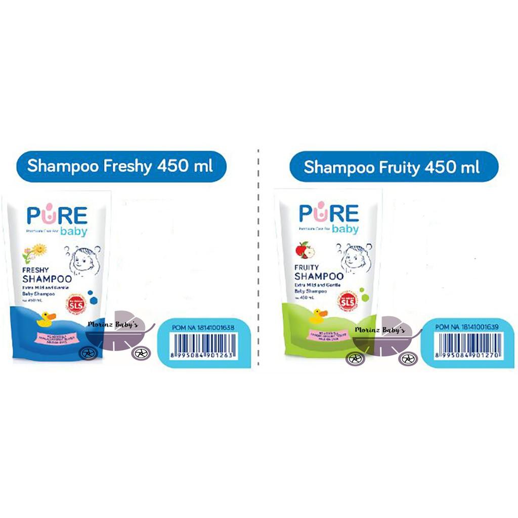 Pure Baby Shampoo 450ml Freshy Fruity Refill Shopee Indonesia Buy 1 Get Free Purebaby