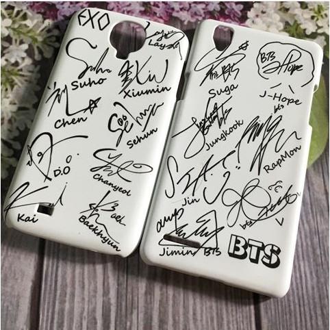 Custom Case Tanda Tangan Bts Exo Untuk Semua Tipe Hp Shopee