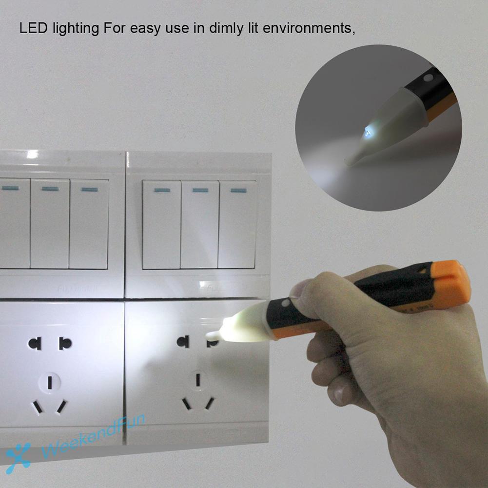 Socket Wall AC//DC Power Outlet Voltage Detector Sensor Tester Electric Test Pen LED Light Voltage Indicator